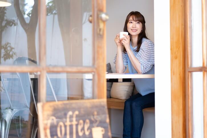 併設されたカフェ